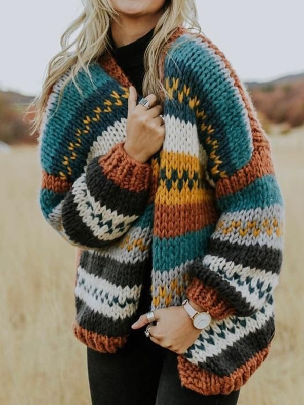 Color Knitted Outerwear