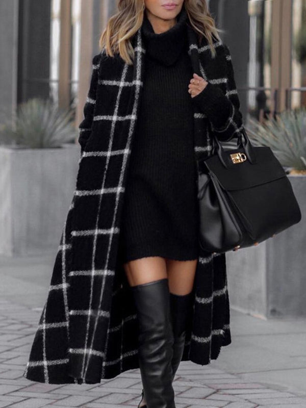 Black Elegant Long Sleeve Coat