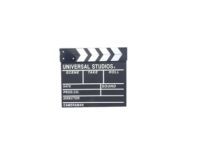 Black Clapperboard Hollywood Movie