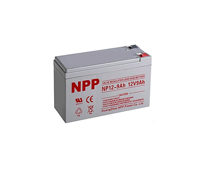 NPP NP12-9Ah Rechargeable AGM Sealed Lead Acid Rechargeable 12V 9Ah Battery F2 Terminals