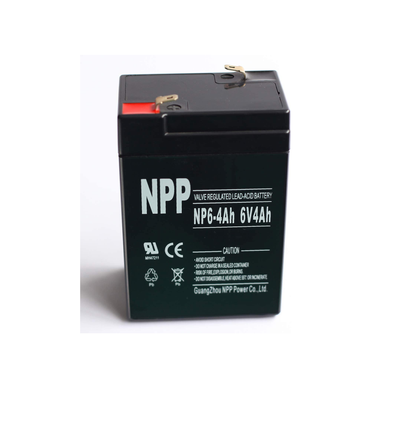 NPP NP6-4Ah Rechargeable Sealed Lead Acid 6V 4 Ah Battery F1