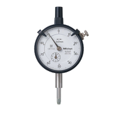 Mitutoyo 2046S, 0.01mm X 10mm Dial Indicator, 0-100, Lug Back, Series 2, 8mm Stem