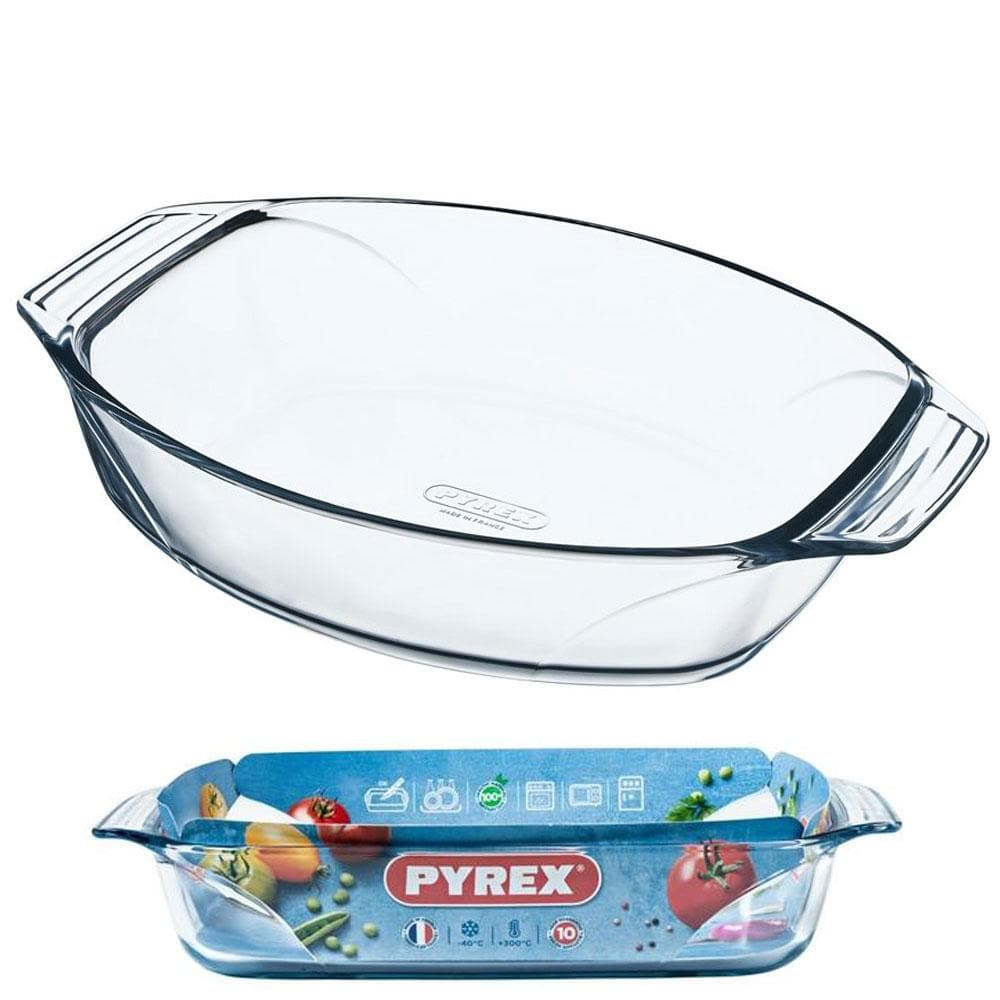 Pyrex Oval Roaster Easy Grip - 30cm x 21cm