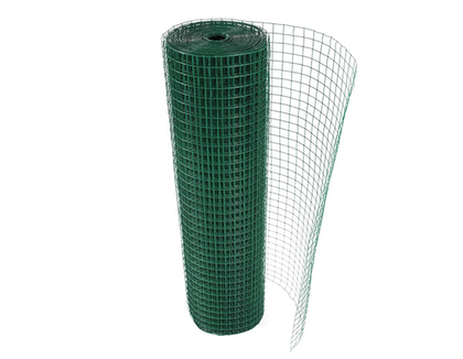 1x1 Green PVC Plastic coated Welded Wire Mesh