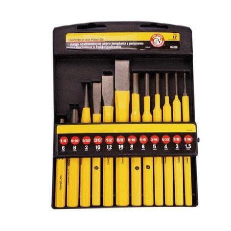 12 Pcs Cold Chisel Punch Set || طقم ازميل خشب