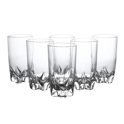 6-Pieces Lisbonne Glass Clear 330 ml