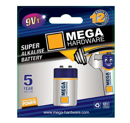 MEGA Alkaline 9V1 Dry Battery