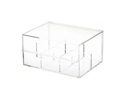 Hec Tea Bag Box With 6 Compartments - Clear