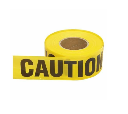 Yellow PE General Caution Safety Tape, Size: 100m*75mm