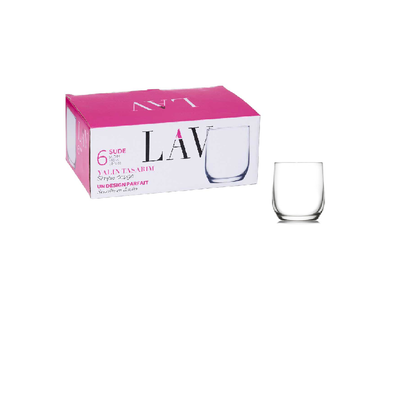 NEW LAV Sude Double Old Fashioned Glasses - Set of 6 By Spotlight