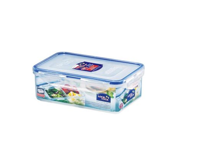 Lock & Lock HPL834C Food Container Short Rectangular 3.9 Liter With Divider