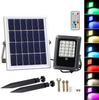 T-SUNRISE Solar Flood Light 10W RGB Outdoor Lighting Waterproof IP65 LED Flood Light with Solar Panel LED Spotlights Garden Lamp