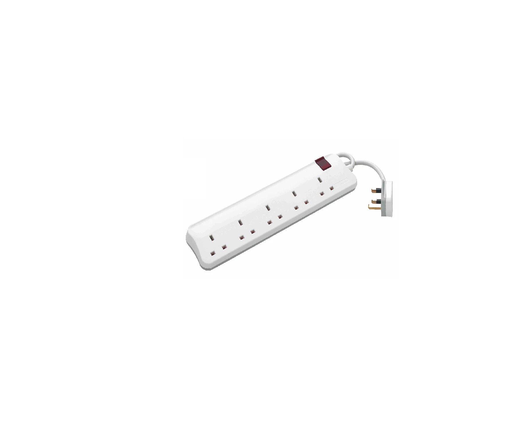 BRITISH STANDARD MULTI-OUTLET EXTENSION - 4X2P+E - ONE SWITCH PER CORD - 3 M COR