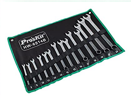 Combination Wrench Set Pro'sKit HW-6514B