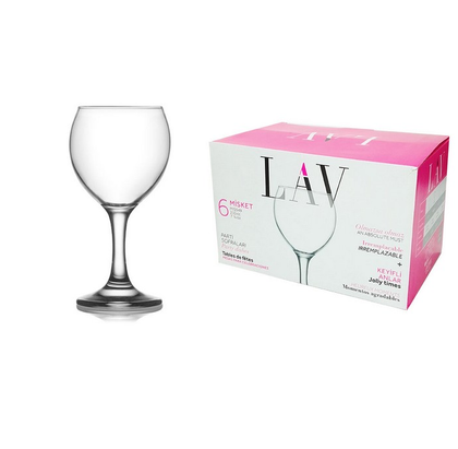 Set of 6 wine glasses for red wine misket 210ml