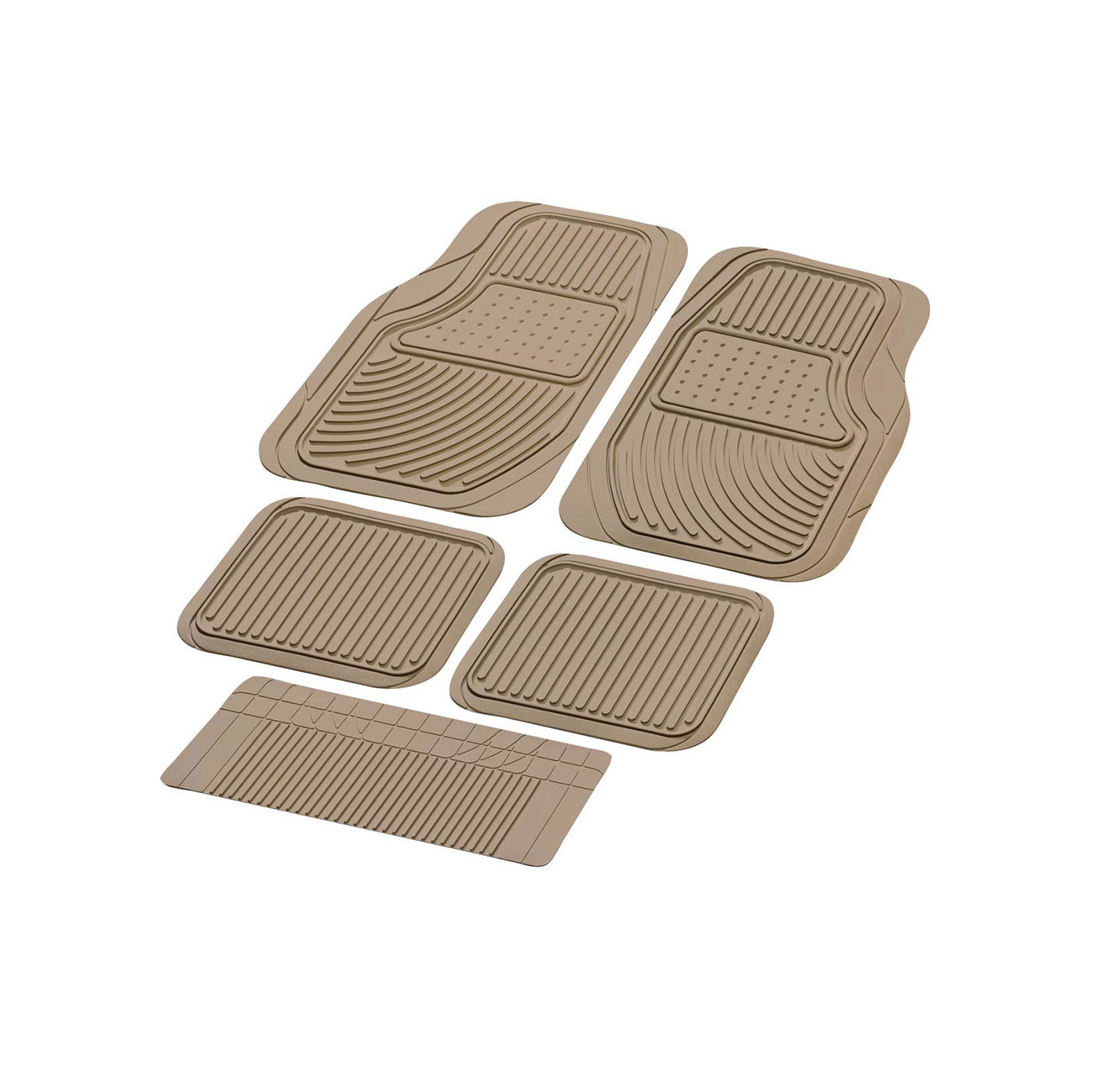 Contour Pack Poda Car Floor Mats (5 Pieces) (Beige, Black, Grey)