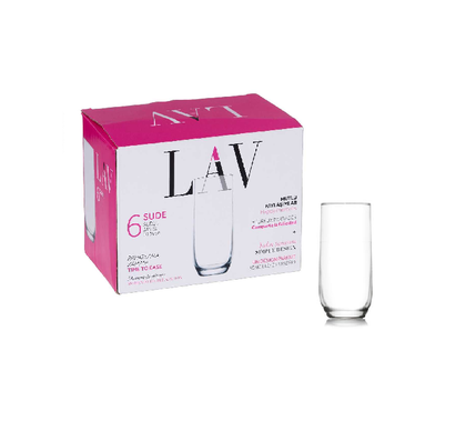 NEW LAV Sude Highball Glasses - Set of 6 By Spotlight