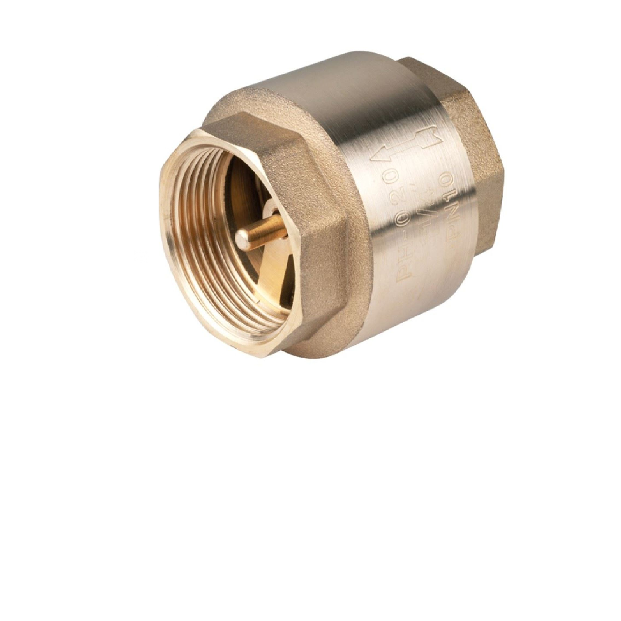 "1""1/2 Inch Spring Non-Return Check Valve One Way Female Brass"