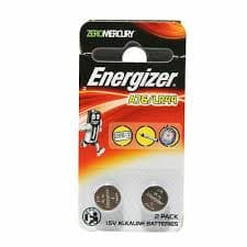2PACK GENUINE ENERGIZER A76/LR44 1.5V ALKALINE BATTERIES