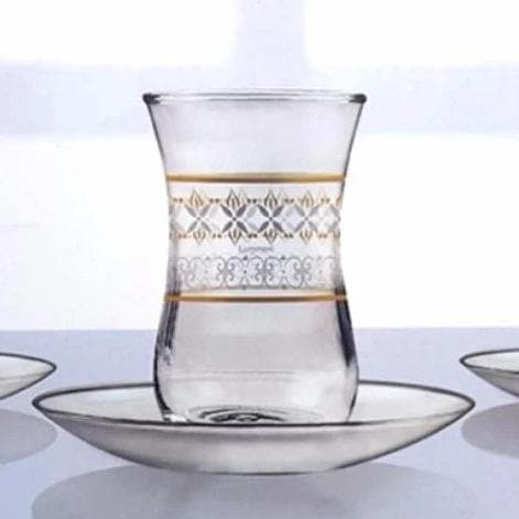 12-Pieces estakan zari Glass Cup 120 ml