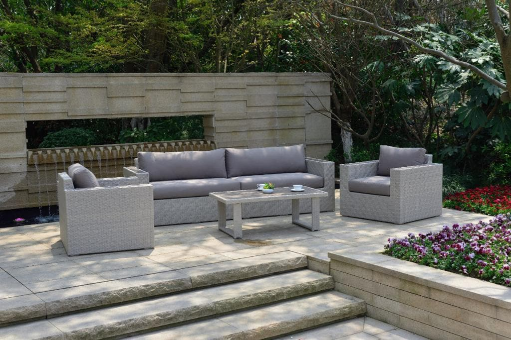 5 Piece Aluminium Sofa Set