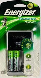 Battery Recharger and 2 AA Batteries Energizer