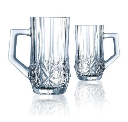 6-Piece Brighton Tea Mug Set Clear 160 ml