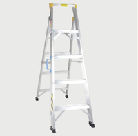 Mazaya Double Aluminum Ladder 5 Steps