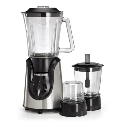 Black & Decker - Glass Blender With Grinder And Mincer Chopper 600W