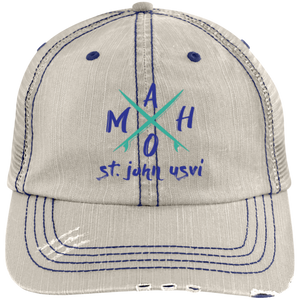 Crossroads Distressed Unstructured Trucker Cap