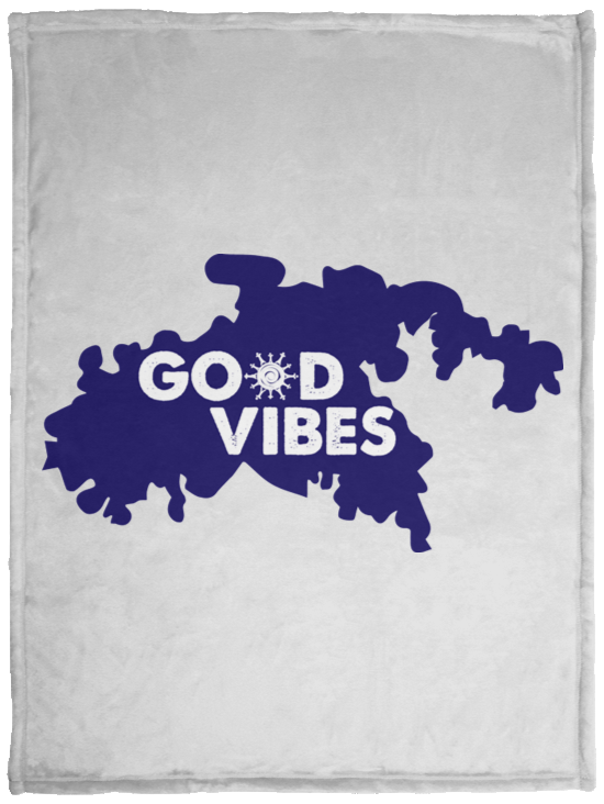 Good Vibes Cozy Plush Fleece Blanket - 30x40