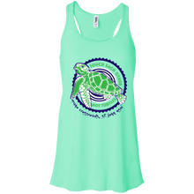 Load image into Gallery viewer, Don't Touch Turtles Bella + Canvas Flowy Racerback Tank