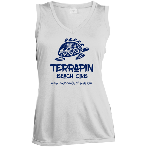 Terrapin Beach Club Ladies' Sleeveless Moisture Absorbing V-Neck