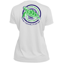 Load image into Gallery viewer, Touch Each Other, Not Turtles Augusta Ladies' Wicking T-Shirt