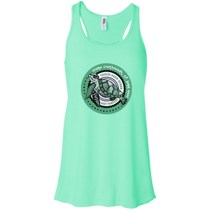 Touch Each Other Not Turtles Bella + Canvas Flowy Racerback Tank