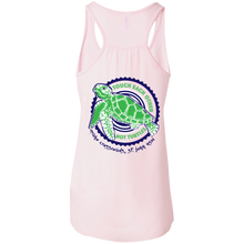 Load image into Gallery viewer, Touch Each Other, Not Turtles Bella + Canvas Flowy Racerback Tank