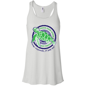 Don't Touch Turtles Bella + Canvas Flowy Racerback Tank