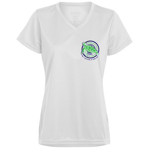 Touch Each Other, Not Turtles Augusta Ladies' Wicking T-Shirt