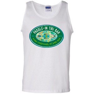 Paddle-In Tiki Bar Cotton Tank Top