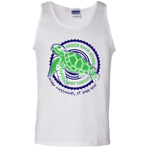 Touch Each Other Not Turtles Cotton Tank Top
