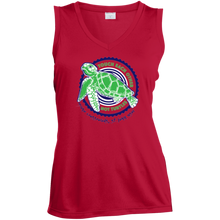 Load image into Gallery viewer, Touch Each Other Not Turtles Ladies' Sleeveless Moisture Absorbing V-Neck
