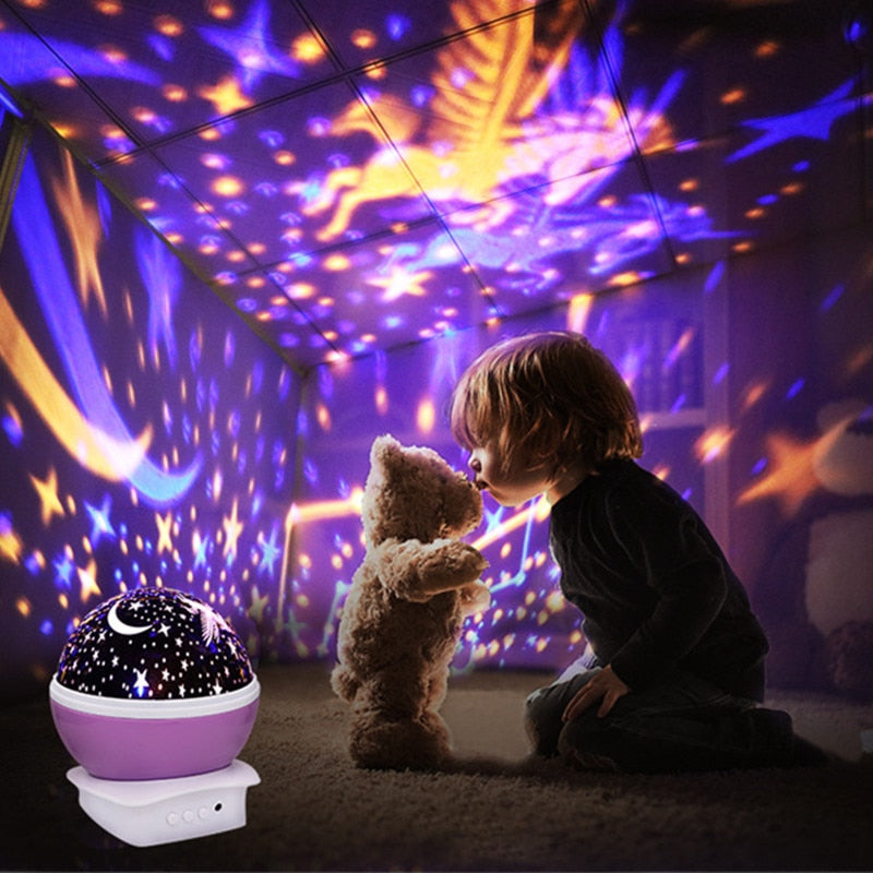 Moon & Star Sky Rotating Projector Light - The Travel Shopp