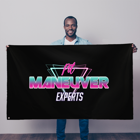 Pit Maneuver Experts Flag - Street Weapons Wall Decor - Locally engineered and crafted aftermarket items for Race, drift, and street cars apparel accessories supplies electronics