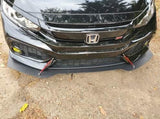 '16 - '20 Honda Civic 10th Gen Front Bumper Mount Splitter W/ Hardware - Street Weapons  - Locally engineered and crafted aftermarket items for Race, drift, and street cars apparel accessories supplies electronics