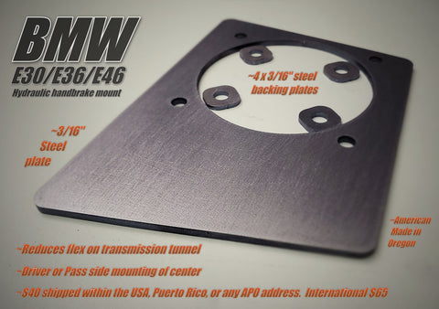E30 | E36 | E46 Hydro Mount Bracket Kit W/ Backing Plates