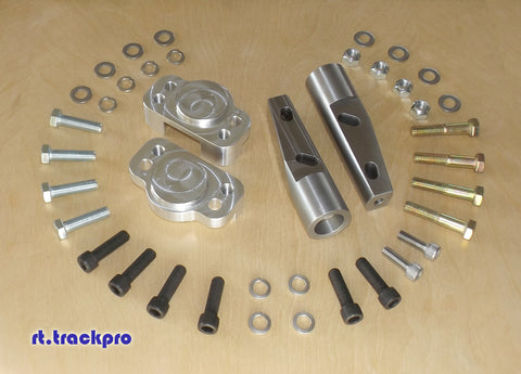 F31 | Leopard | M30 to S13 Coilover Adapter Kit W/ Optional Negative-Camber Rollcenter Adjusters
