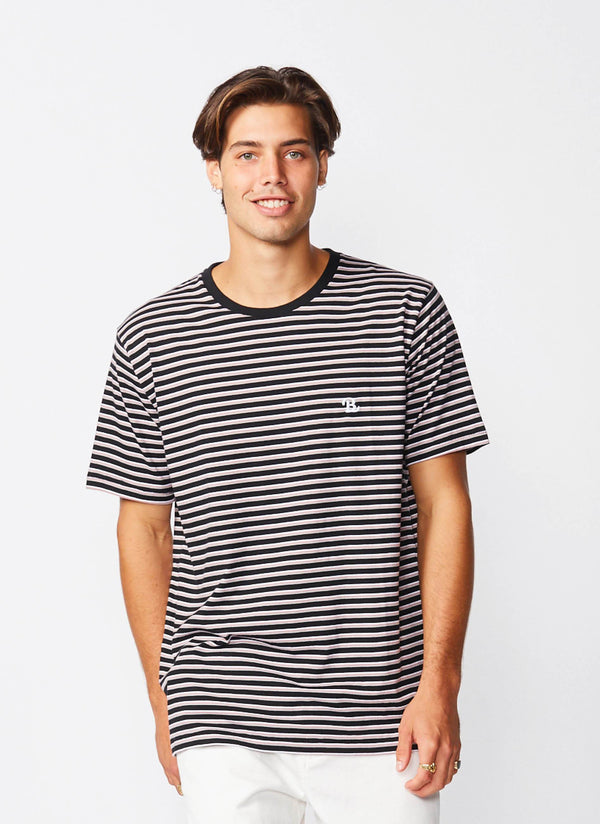 B.Schooled Tee Black Stripe