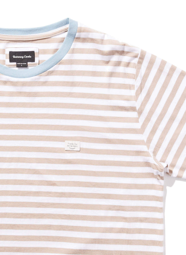 B.Thankful Tee Beige Stripe