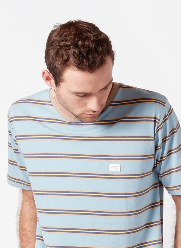 B.Thankful Tee Blue Stripe