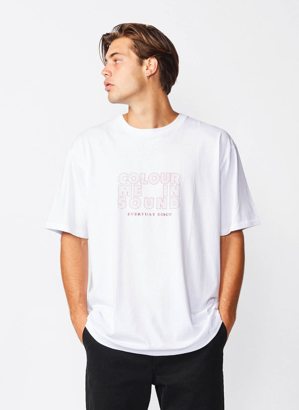 Colour Me Homie Tee White